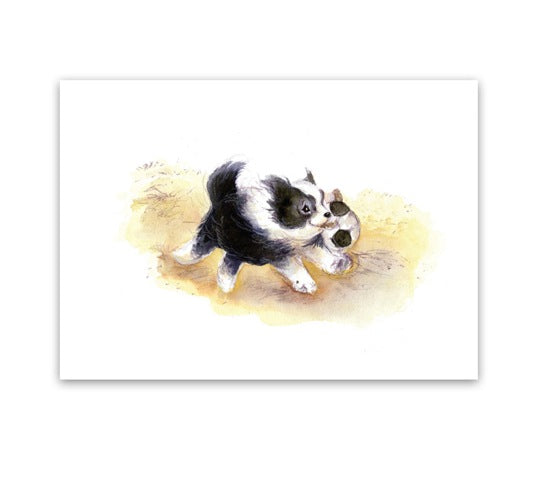 Greeting Card - Puppy Play-Homewares-Atelier Crafers