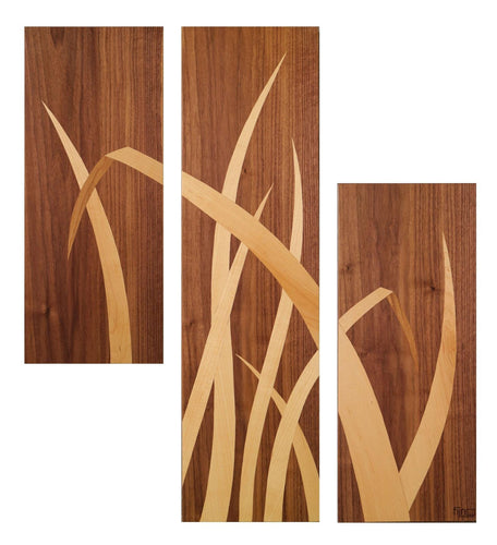 Bent- Reed Triptych Wall art - Atelier Crafers