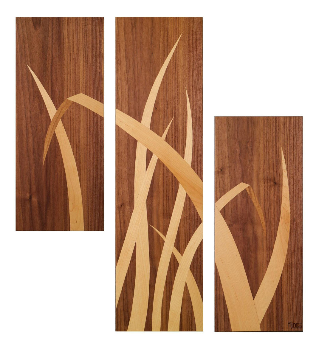 Bent- Reed Triptych Wall art-Art Gallery-Atelier Crafers