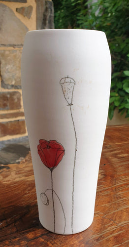 Poppy Vase - Large - porcelain by Just Jane Ceramics-Homewares-Atelier Crafers