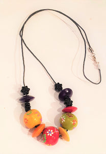 Hand painted African Bead Necklace-Jewellery-Atelier Crafers