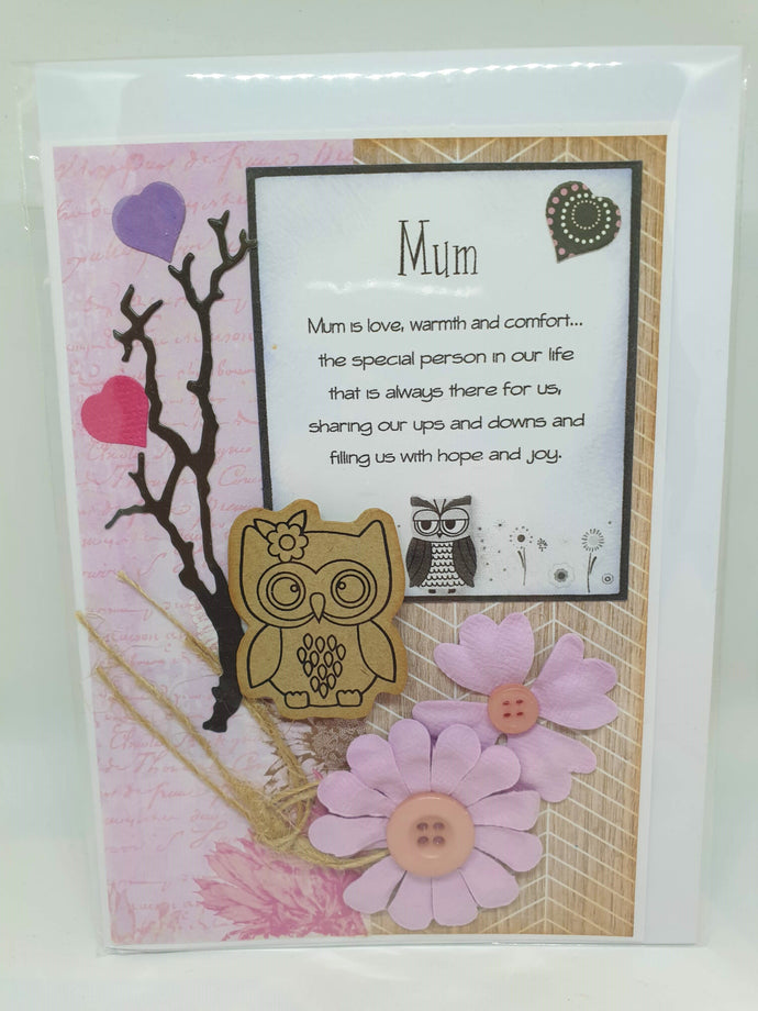 Handmade Mother's Day Cards - Mum is love, warmth and comfort-Homewares-Atelier Crafers