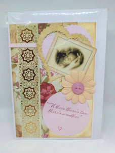 Handmade Mother's Day Cards - Where there's love there's a mother-Homewares-Atelier Crafers