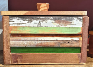 Large Treasure box 1 - reclaimed timber and heritage glass