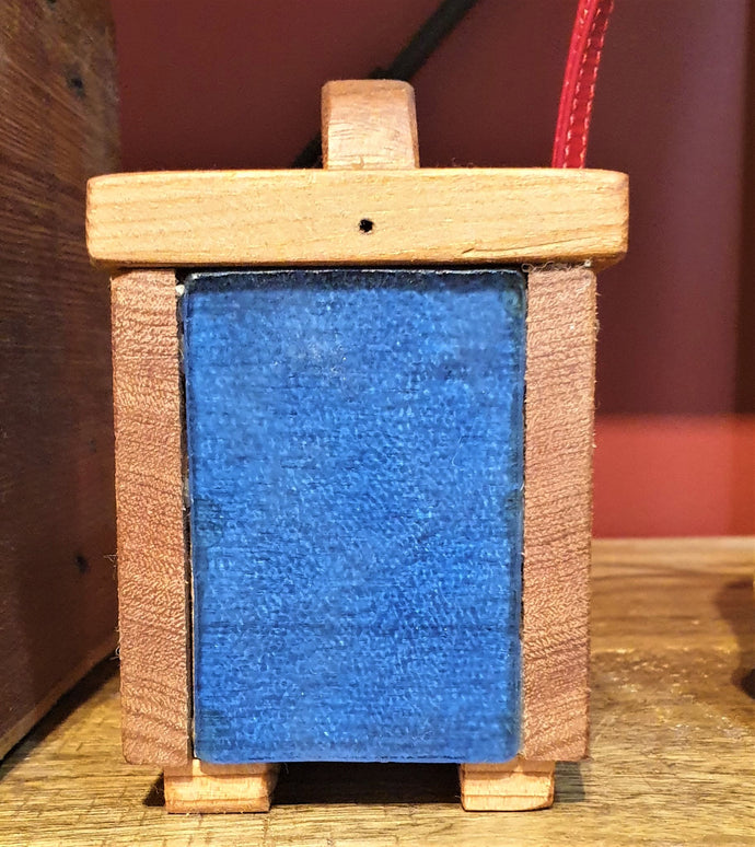Small Treasure Box- reclaimed timber and blue heritage glass