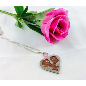 Sterling silver and copper heart pendant-Jewellery-Atelier Crafers