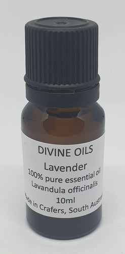 Lavender 100% Pure Essential Oil 10ml - Divine Oils-Bath & Body-Atelier Crafers