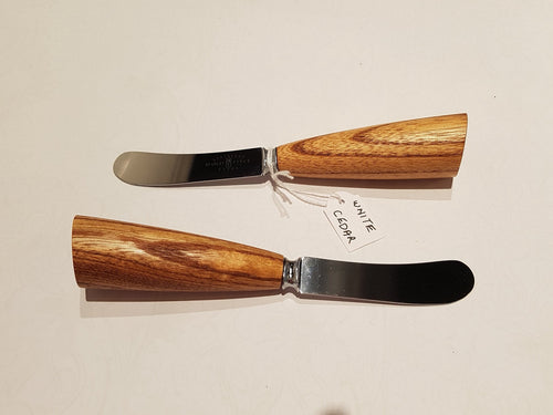 Pate knives - white cedar handles - Ron Burke-Homewares-Atelier Crafers