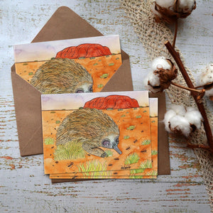 Greeting Card - Echidna - Zinia King-Homewares-Atelier Crafers