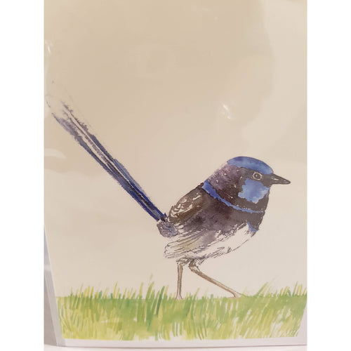 Greeting Card - Single Superb Fairy Wren - Atelier Crafers
