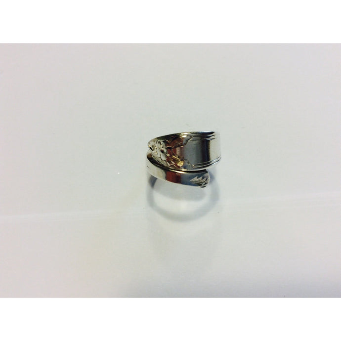 Vintage Steiff Sterling Silver Spoon Ring - size L-Jewellery-Atelier Crafers