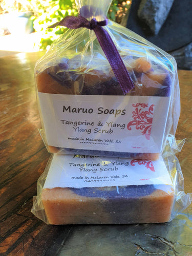 Handmade Tangerine & Ylang Ylang Soap Scrub-Bath & Body-Atelier Crafers