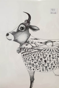 A4 print - Cropped Cow-Homewares-Atelier Crafers
