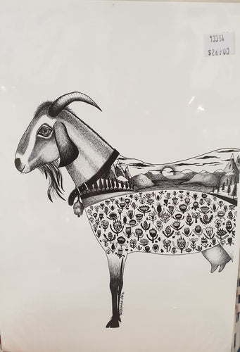 A4 print - Cropped Goat-Homewares-Atelier Crafers