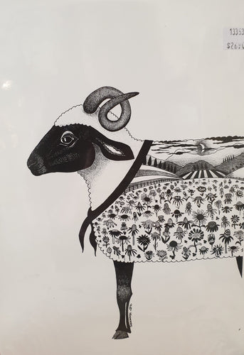 A4 print - Cropped Sheep