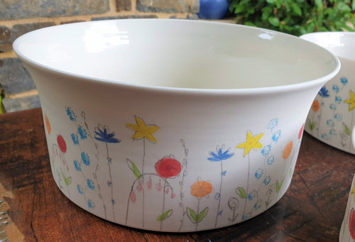 Springfield bowl - large - porcelain by Just Jane Ceramics-Homewares-Atelier Crafers