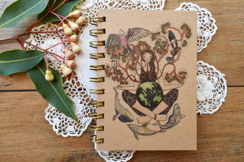 'Mother Earth' 100 page A6 Notebook with kraft paper-Stationery-Atelier Crafers