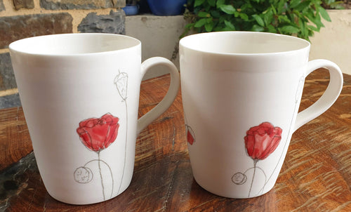 Poppy Mug - porcelain by Just Jane Ceramics-Homewares-Atelier Crafers