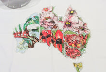Load image into Gallery viewer, Floral Emblem Australian Map Tea Towel-Homewares-Atelier Crafers