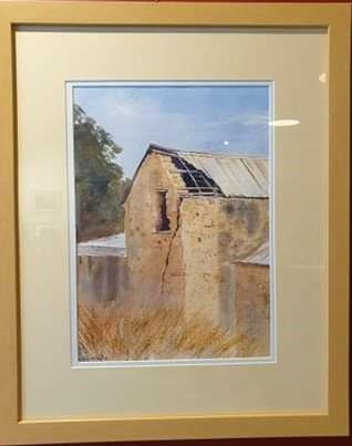 Aldinga Hay Barn - watercolour b y Robin Hicks-Art Gallery-Atelier Crafers