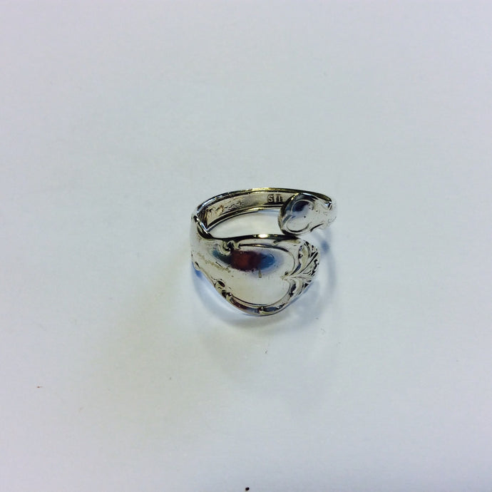 Vintage Sterling Silver Spoon Ring - Size Q-Jewellery-Atelier Crafers