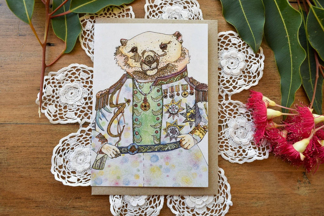 Greeting Card - Wombat - Zinia King-Homewares-Atelier Crafers