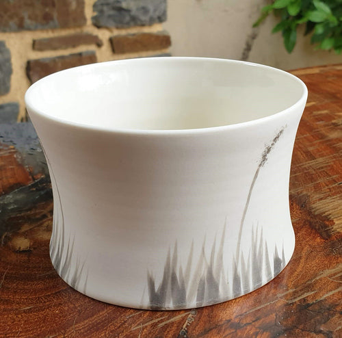 Blackgrass bowl - small - porcelain by Just Jane Ceramics-Homewares-Atelier Crafers