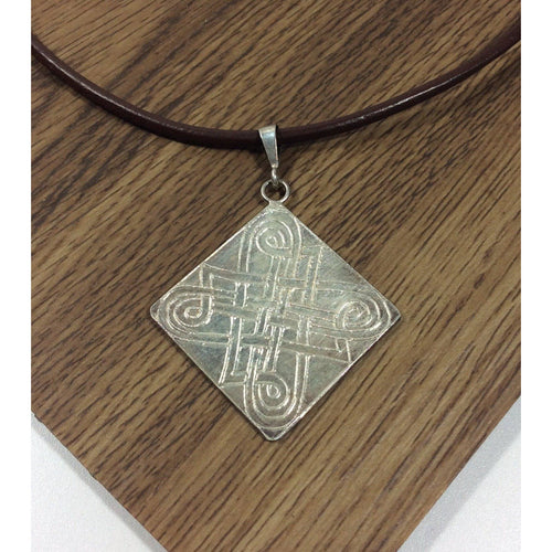 Sterling Silver Celtic Pendant on Leather