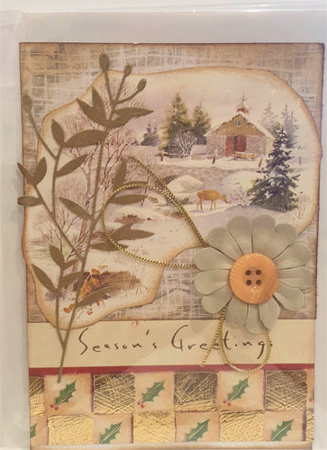 Christmas Card - Handmade - Season's Greetings - Kaye Esplin
