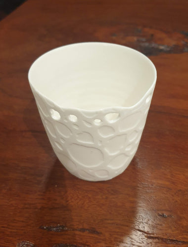 Hole Porcelain Beaker-Homewares-Atelier Crafers