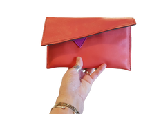 Load image into Gallery viewer, Watermelon Orange Leather Clutch Bag - Mark Jones Leather-Fashion and Accessories-Atelier Crafers