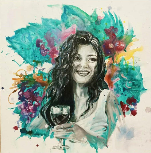 Wine Tasting in the hills by Sarah Charlotte-Art Gallery-Atelier Crafers