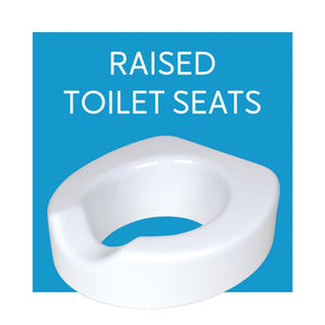 Raised Toilet Seats and Toilet Seat Elevators - Carex Health Brands