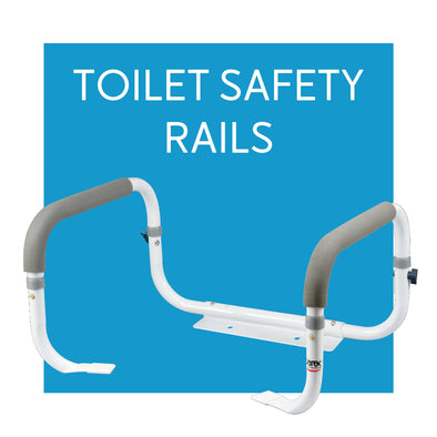 Toilet Assist Safety Rails - Carex Health Brands