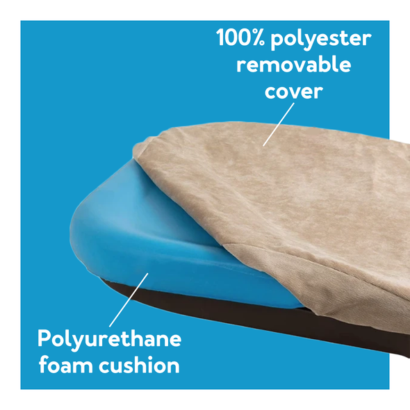 100% polyester removable cover with polyurethane foam cushion
