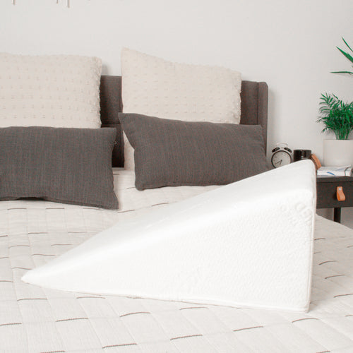 Machine washable bed wedge pillow case