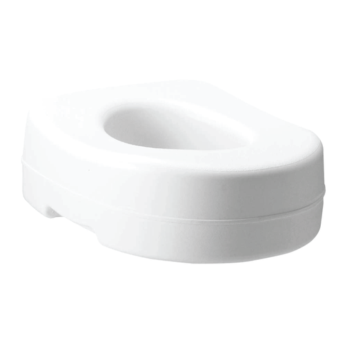 CAREX RAISED TOILET SEAT WITH RUBBER PADS