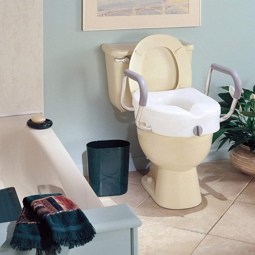 Install a raised toilet seat