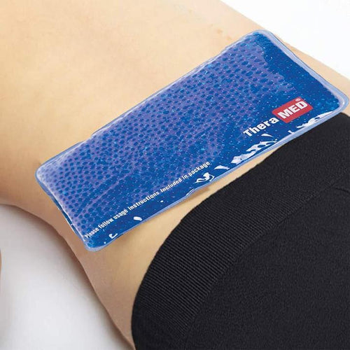 Hot cold gel bead ice pack