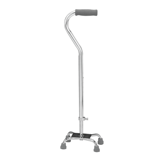Self standing quad cane
