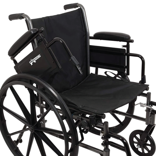 Wheelchair with flip up arms