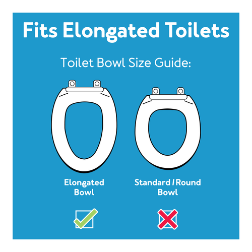 Rise up toilet seat for elongated toilets