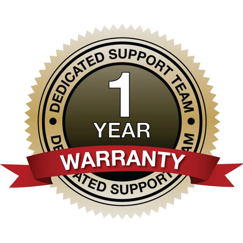 Includes a one year warranty. If defective, we'll make it right.
