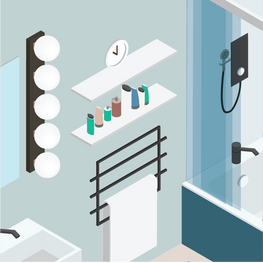 Keep toiletries in one place to prevent having to rummage which can lead to falls in the bathroom.