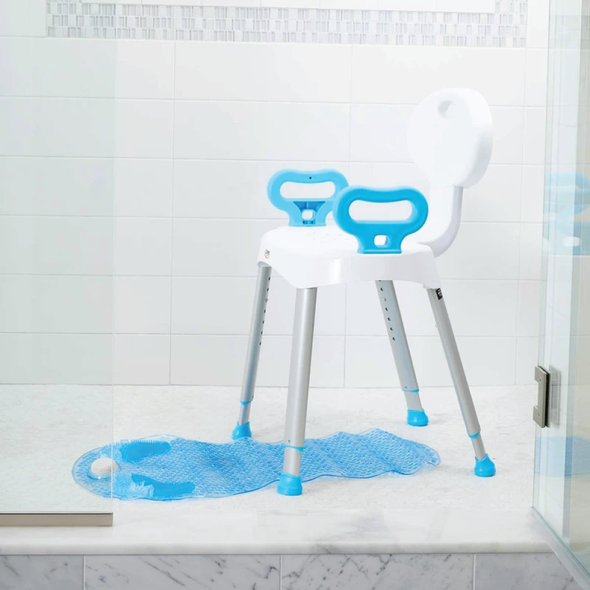 Carex shower seat with handles