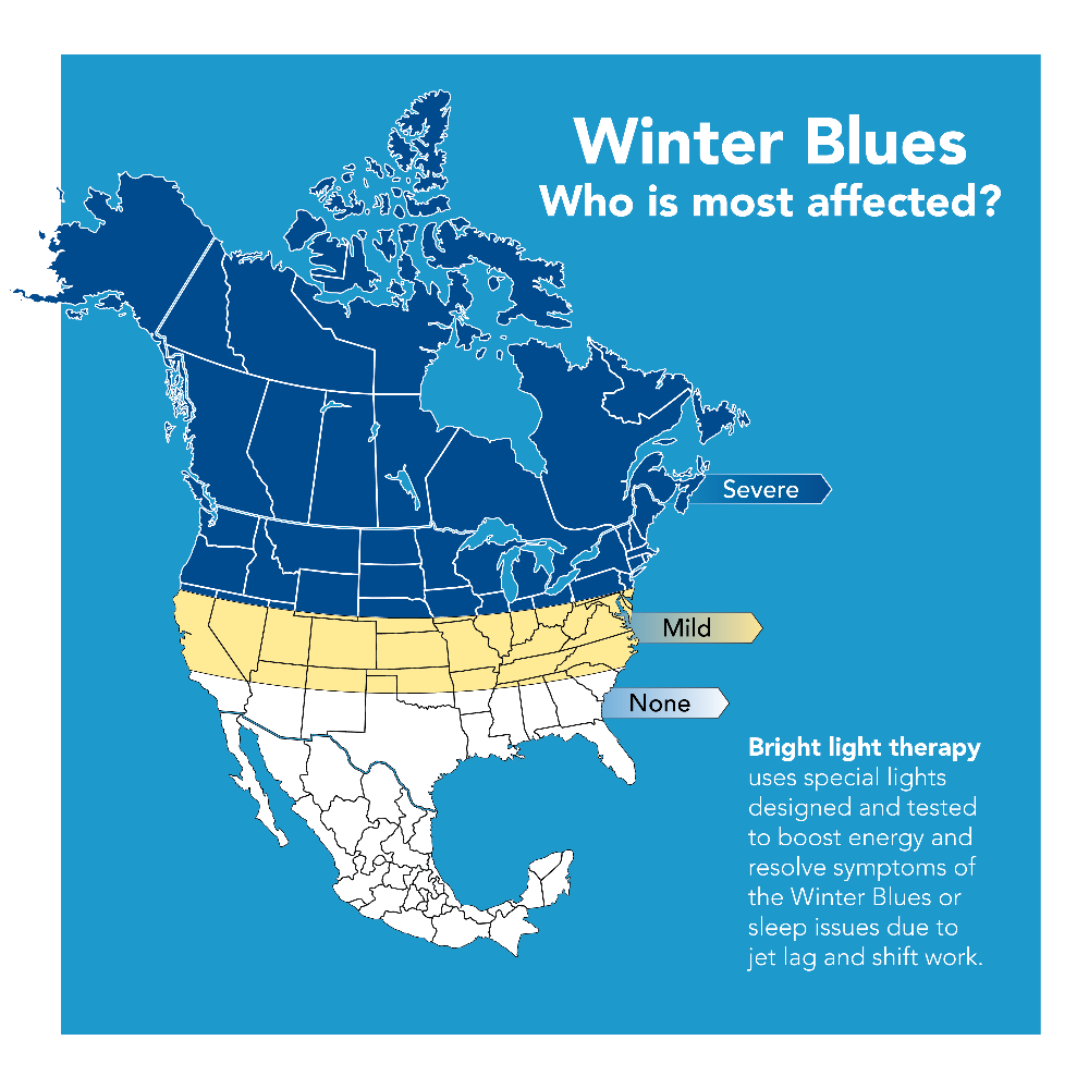 Areas Most Affected by SAD (Winter Blues)