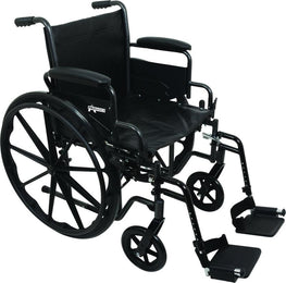 PROBASICS K2 WHEELCHAIR WITH FLIP-BACK ARMS AND HEMI-HEIGHT POSITION