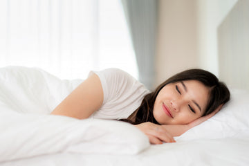 Person in side sleeping position