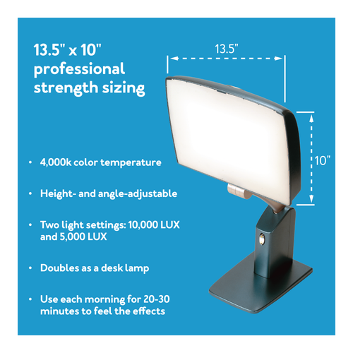 10,000 LUX Day-Light Sky Bright Light Therapy Lamp
