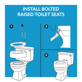 Install bolted raised toilet seats